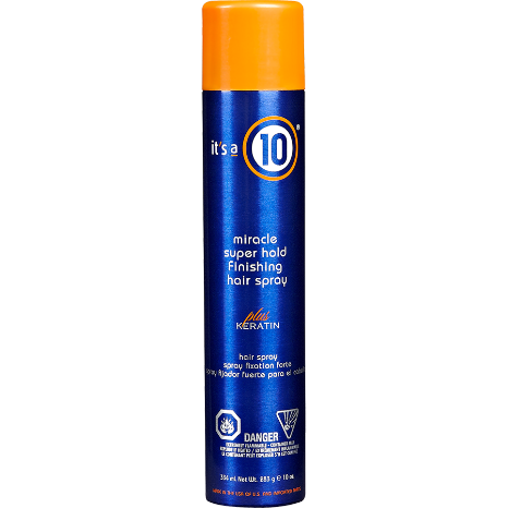 Its a 10 Miracle Super Hold Finishing Spray Plus Keratin