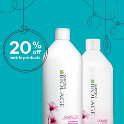 20% off Matrix Products with two Biolage liter shampoos