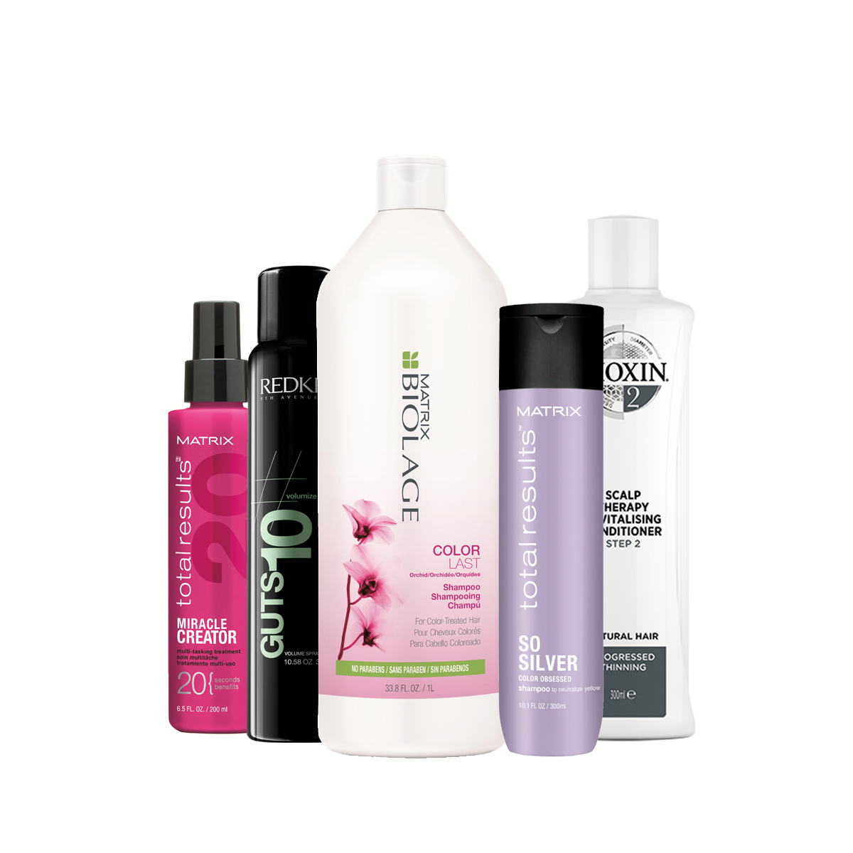 assortment of multi brand hair products