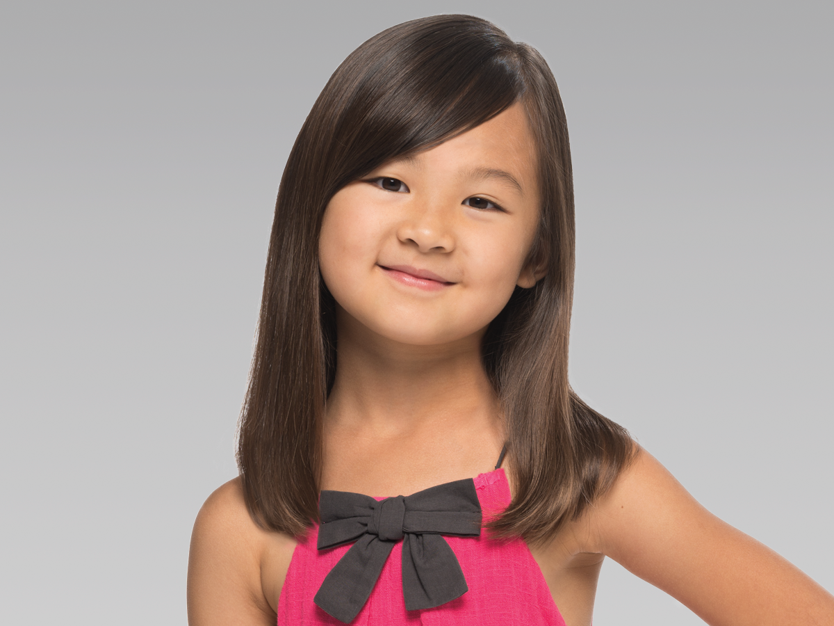 One length with bangs haircut